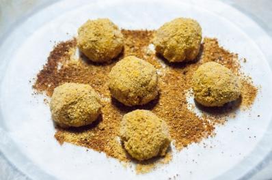 Shake and bake potato balls